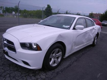 2013 DODGE CHARGER SXT - WHITE ON BEIGE 2