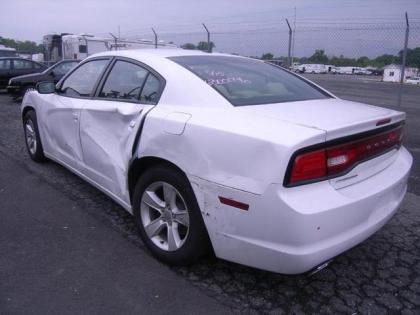 2013 DODGE CHARGER SXT - WHITE ON BEIGE 5