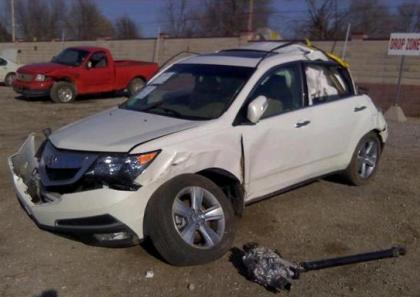 2012 ACURA MDX AWD - WHITE ON BEIGE 2