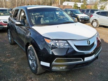 2012 ACURA MDX AWD - BLACK ON BLACK 2