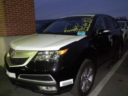 2013 ACURA MDX TECH PKG - BLACK ON BLACK
