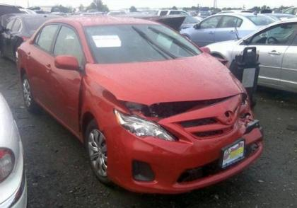 2012 TOYOTA COROLLA LE - RED ON BEIGE