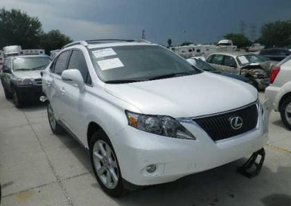 2011 LEXUS RX350 BASE - WHITE ON BLACK