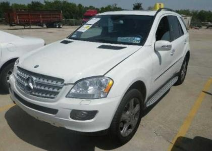 Export salvage 2008 mercedes benz ml350 4matic white on for 2008 mercedes benz ml350