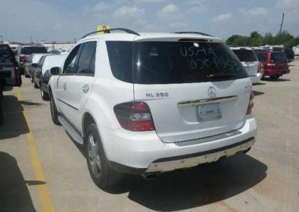 2008 MERCEDES BENZ ML350 4MATIC - WHITE ON BLACK 3