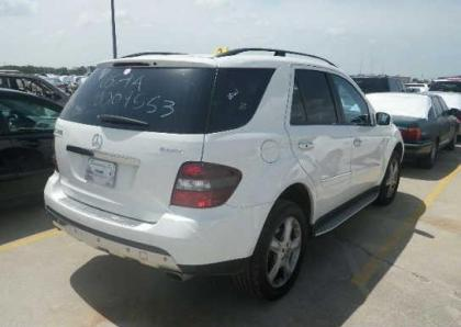 2008 MERCEDES BENZ ML350 4MATIC - WHITE ON BLACK 4