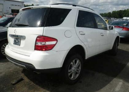 Export Salvage 2006 MERCEDES BENZ ML350 4MATIC - WHITE ON ...