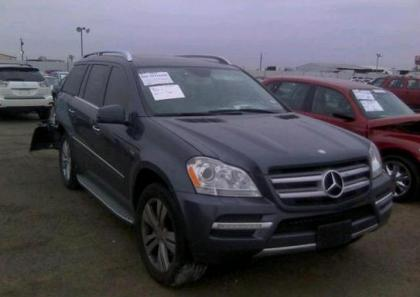 2012 MERCEDES BENZ GL350 BLUETEC 4MATIC - BLUE ON GRAY