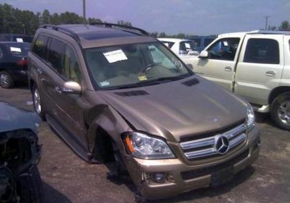 2008 MERCEDES BENZ GL450 BASE - GOLD ON BEIGE