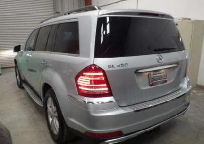 2012 MERCEDES BENZ GL450 4MATIC - SILVER ON BLACK 3