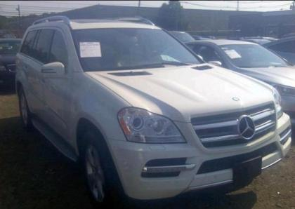 2012 MERCEDES BENZ GL450 4MATIC - WHITE ON BEIGE 1