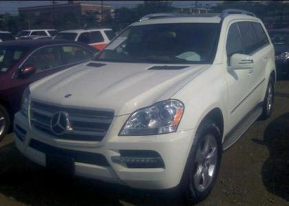 2012 MERCEDES BENZ GL450 4MATIC - WHITE ON BEIGE 2