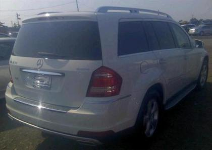 2012 MERCEDES BENZ GL450 4MATIC - WHITE ON BEIGE 4