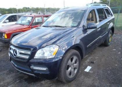 2012 MERCEDES BENZ GL450 4MATIC - BLUE ON BEIGE 2