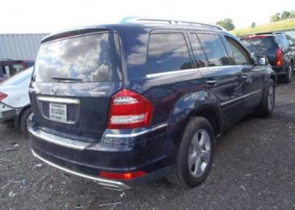 2012 MERCEDES BENZ GL450 4MATIC - BLUE ON BEIGE 4