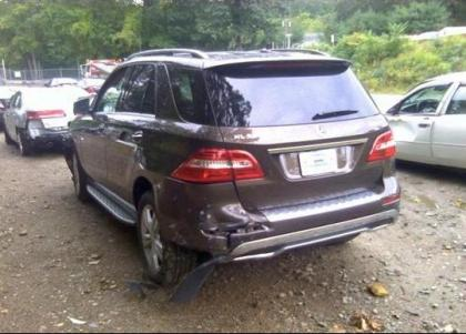 2012 MERCEDES BENZ ML350 4MATIC - BROWN ON BEIGE 3