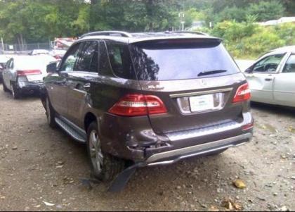 Export Salvage 2012 Mercedes Benz Ml350 4matic Brown On