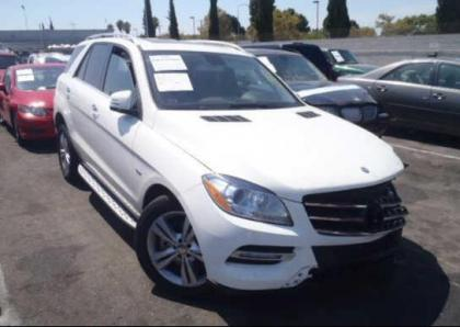 2012 MERCEDES BENZ ML350 4MATIC - WHITE ON BLACK 1