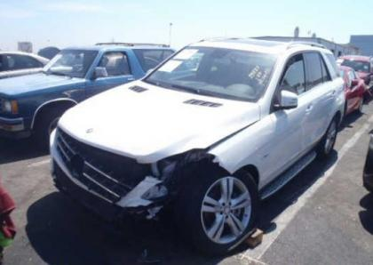 2012 MERCEDES BENZ ML350 4MATIC - WHITE ON BLACK 2