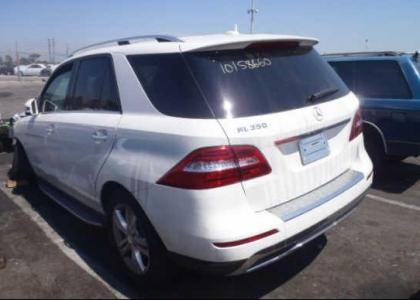 2012 MERCEDES BENZ ML350 4MATIC - WHITE ON BLACK 3