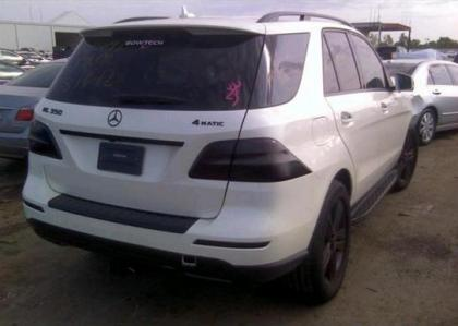 2012 MERCEDES BENZ ML350 4MATIC - WHITE ON BLACK 4