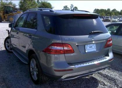 2012 MERCEDES BENZ ML350 4MATIC - GRAY ON GRAY 3