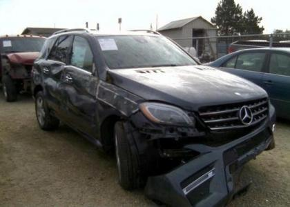 2014 MERCEDES BENZ ML350 4MATIC - GRAY ON BEIGE 1