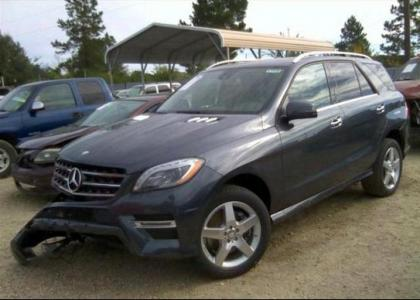 2014 MERCEDES BENZ ML350 4MATIC - GRAY ON BEIGE 2