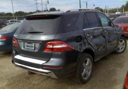 2014 MERCEDES BENZ ML350 4MATIC - GRAY ON BEIGE 4