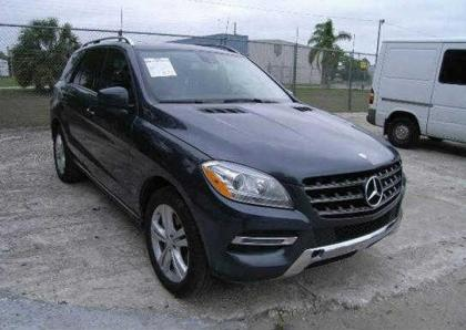2014 MERCEDES BENZ ML350 4MATIC - GRAY ON BLACK 1