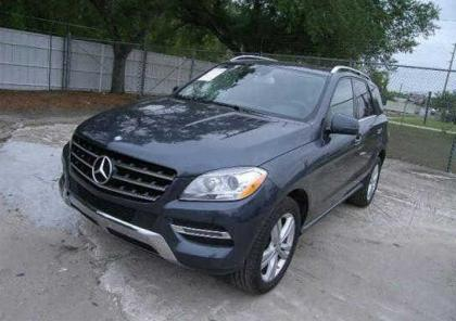 2014 MERCEDES BENZ ML350 4MATIC - GRAY ON BLACK 2