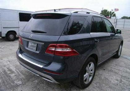 2014 MERCEDES BENZ ML350 4MATIC - GRAY ON BLACK 4