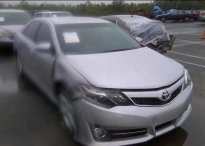 2013 TOYOTA CAMRY SE - SILVER ON BLACK 1