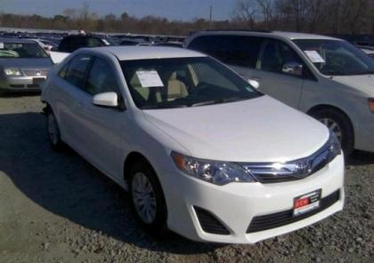 2013 TOYOTA CAMRY LE - WHITE ON BEIGE