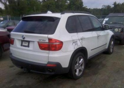 Export Salvage 2007 Bmw X5 3 0l White On Beige