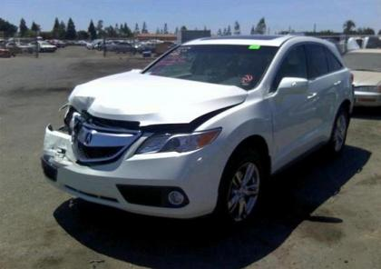 2013 ACURA RDX TECH PACKAGE - WHITE ON GRAY 2