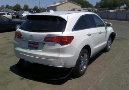 2013 ACURA RDX TECH PACKAGE - WHITE ON GRAY 4