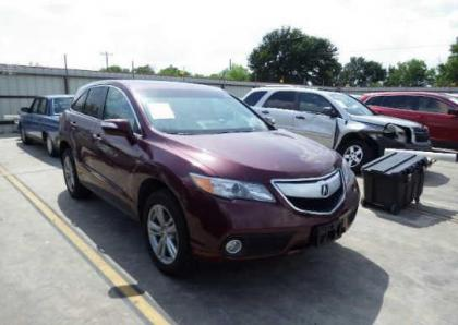 2013 ACURA RDX TECH PACKAGE - MAROON ON BEIGE