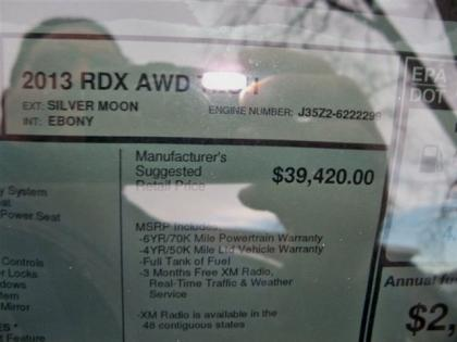 2013 ACURA RDX TECHNOLOGY PACKAGE - SILVER ON BLACK 7