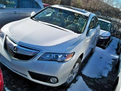 2013 ACURA RDX TECH PKG - WHITE ON BEIGE