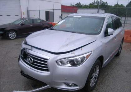 2013 INFINITI JX35 BASE - SILVER ON BLACK 2