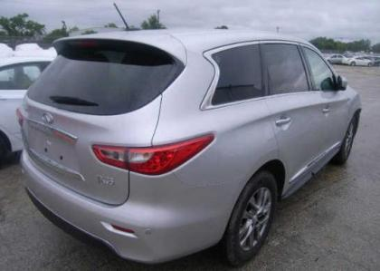 2013 INFINITI JX35 BASE - SILVER ON BLACK 4