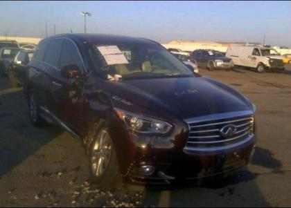 2013 INFINITI JX35 BASE - MAROON ON BEIGE