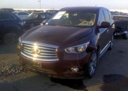 2013 INFINITI JX35 BASE - MAROON ON BEIGE 2