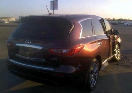 2013 INFINITI JX35 BASE - MAROON ON BEIGE 3