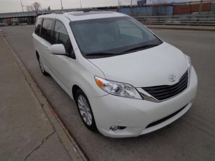 2012 TOYOTA SIENNA LIMITED - WHITE ON GRAY