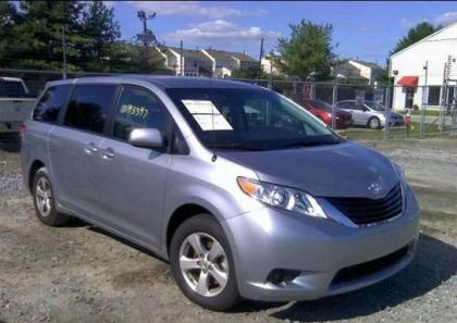 2012 TOYOTA SIENNA LE - SILVER ON GRAY 1