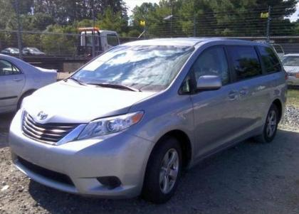 2012 TOYOTA SIENNA LE - SILVER ON GRAY 2