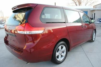 2011 TOYOTA SIENNA LE - RED ON GRAY 4