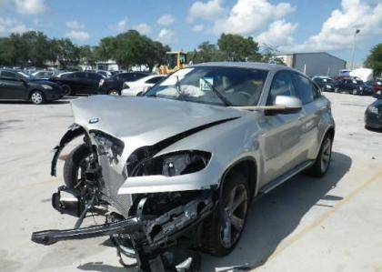 Export Salvage 2009 Bmw X6 Xdrive50i Silver On White